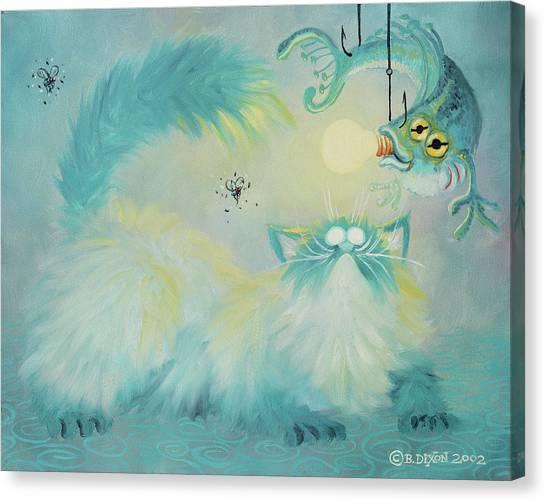 Himalayan Cats Canvas Print - Aqua Pastel by Baron Dixon