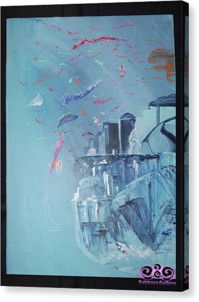 Aqua Resort Canvas Print