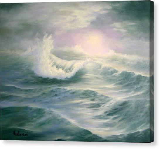Aqua Sea Canvas Print