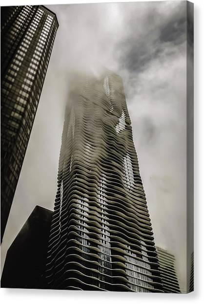 Aqua Skyscraper Canvas Print