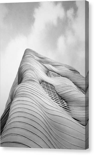 Modern Architecture Canvas Print - Aqua Tower by Scott Norris