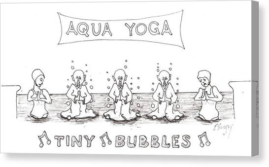 Aqua Yoga Canvas Print