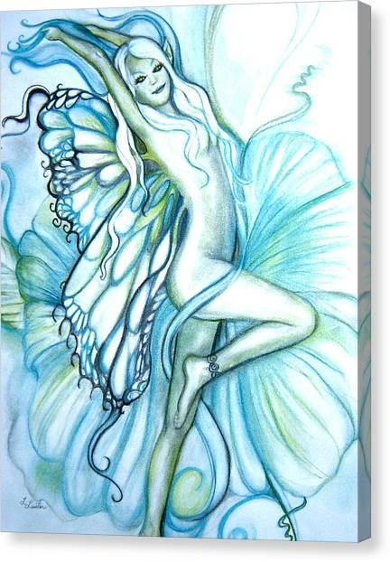 Aquafairie Canvas Print by L Lauter