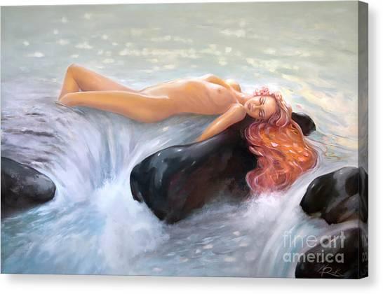 Aquamarine Sea Goddess Canvas Print