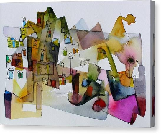Aquarel No32 Canvas Print by Miljenko Bengez