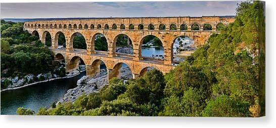 Aqueduct Pont Du Gard Canvas Print