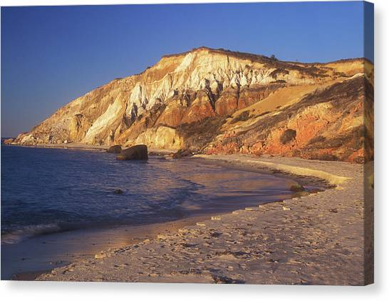 Marthas Vineyard Canvas Print - Aquinnah Gay Head Cliffs by John Burk