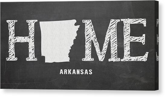 University Of Arkansas University Of Arkansas Canvas Print - Ar Home by Nancy Ingersoll
