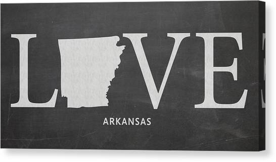 University Of Arkansas University Of Arkansas Canvas Print - Ar Love by Nancy Ingersoll