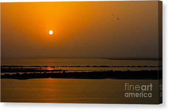 Arabian Gulf Sunset Canvas Print