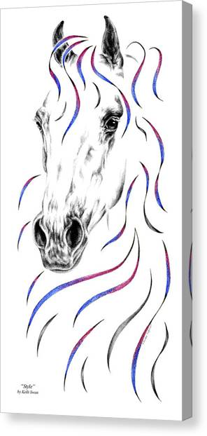 Arabian Horse Style Canvas Print