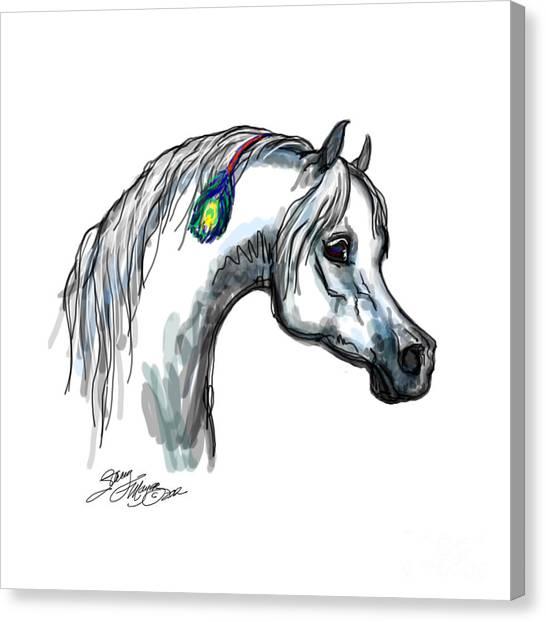 Arabian Peacock Feather Canvas Print