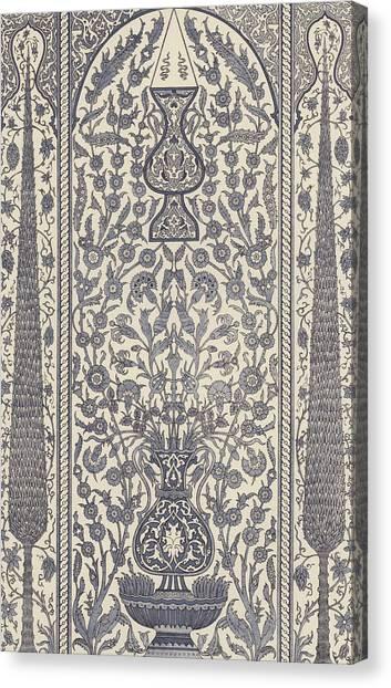 Muslim Canvas Print - Arabian, Wainscot by German School