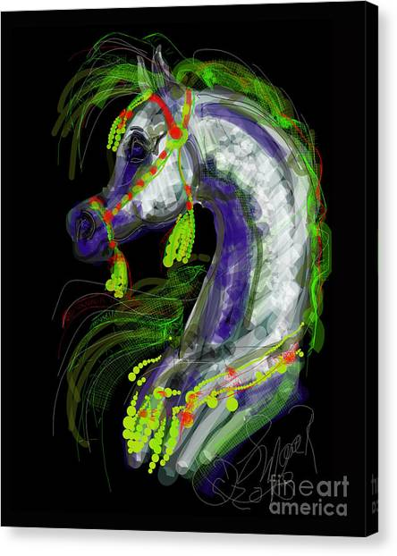 Arabian With Green Tassles Canvas Print