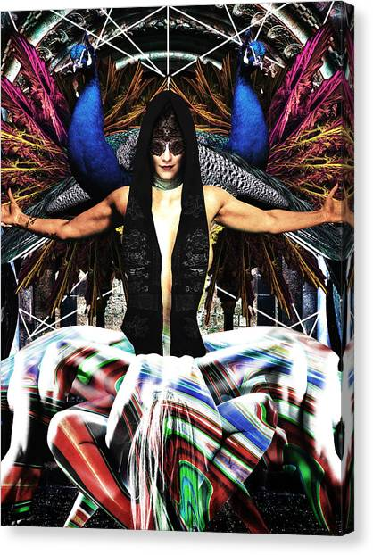 Peacocks Canvas Print - Arachne- Pride- by Arouse Works