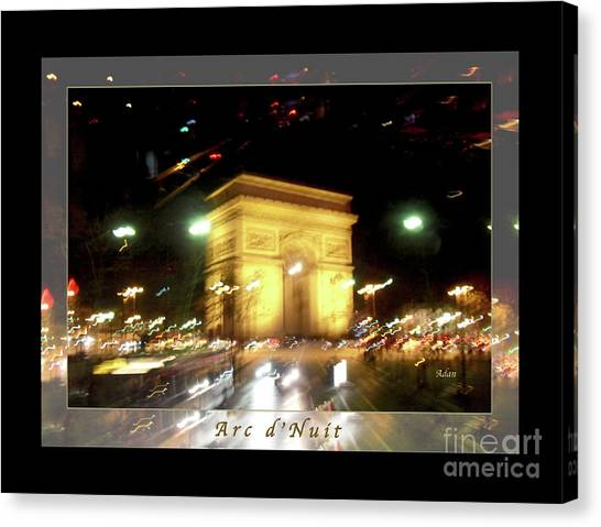 Arc De Triomphe By Bus Tour Greeting Card Poster V1 Canvas Print