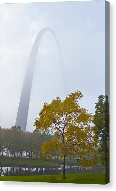 Gateway Arch Canvas Print - Arch In The Fog by Garry McMichael