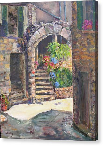 Arch Of Eze Canvas Print by Albert Fendig