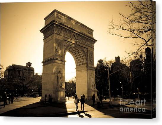 Central Park Canvas Print - Arch Of Washington by Joshua Francia