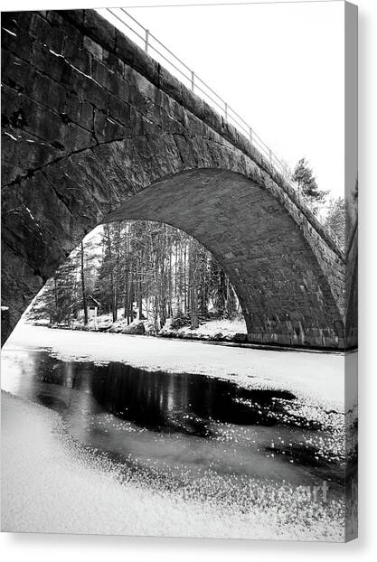 Arch Canvas Print by Tapio Koivula