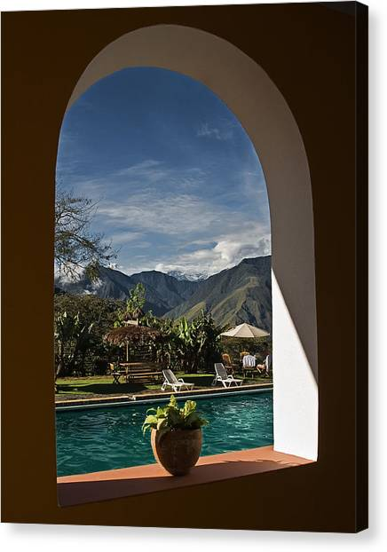 Arch View Canvas Print