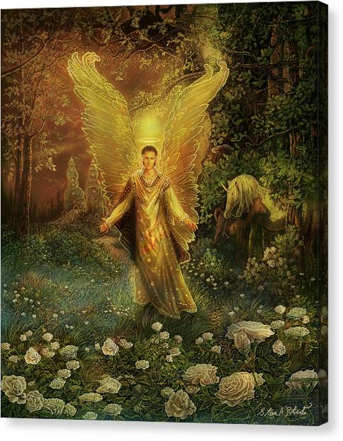 Archangel Azrael Canvas Print