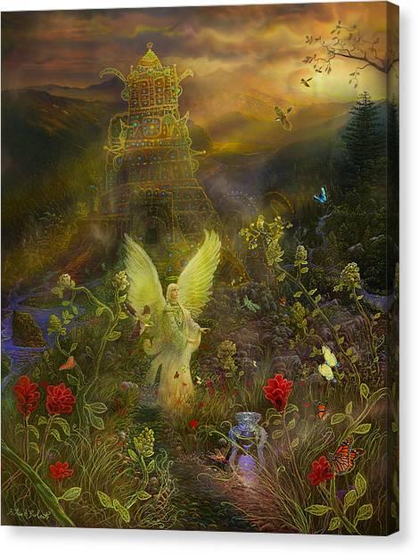 Archangel Chamuel-angel Tarot Card Canvas Print