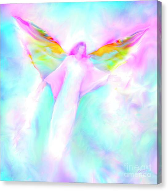 Archangel Gabriel In Flight Canvas Print