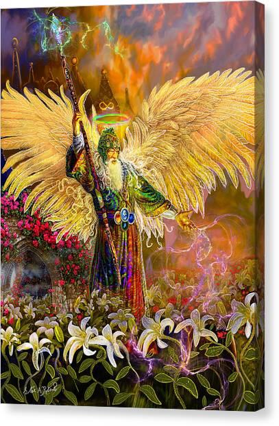 Archangel Raziel-angel Tarot Card Canvas Print