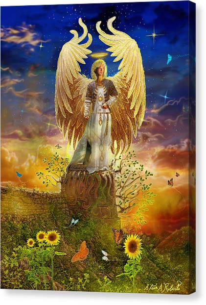 Archangel Uriel Canvas Print