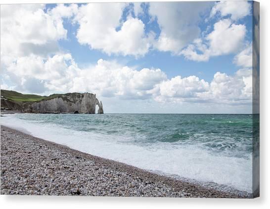 Arch At Etretat Beach, Normandie Canvas Print