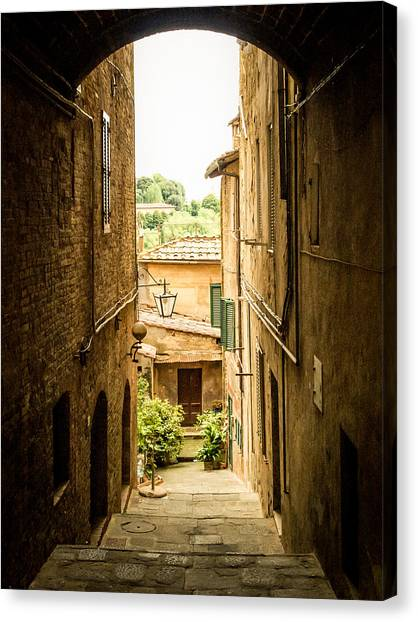 Arched Alley Canvas Print