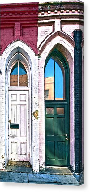 Door One And Door Too Canvas Print