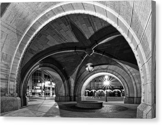 Arched In Black And White Canvas Print