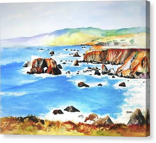 Arched Rock Sonoma Coast California Canvas Print