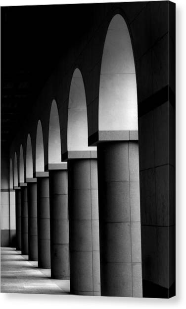 Arches And Columns 1 Canvas Print by John Gusky