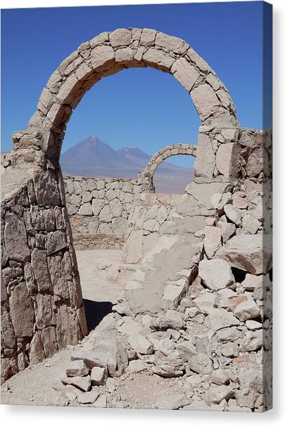 Pukara De Quitor Arches Canvas Print