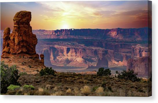 Arches National Park Canyon Canvas Print