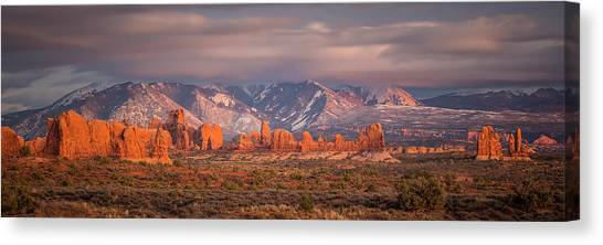 Arches National Park Pano Canvas Print