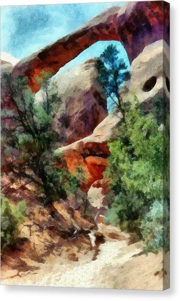 Arches National Park Trail Canvas Print