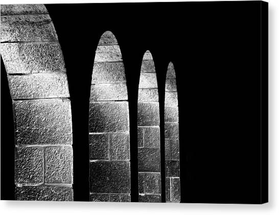 Arches Per Israel - Black And White Canvas Print by Deb Cohen