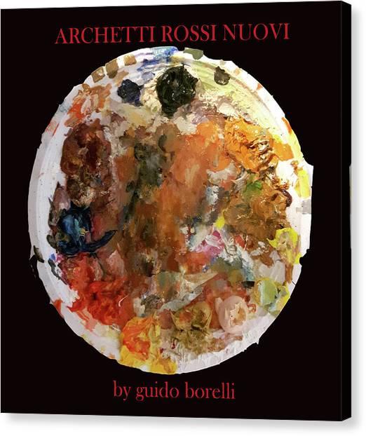 Palette Canvas Print - Archetti Rossi Nuovi by Guido Borelli
