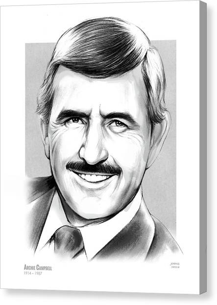 Writer Canvas Print - Archie Campbell by Greg Joens