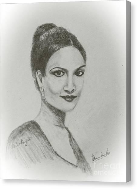 Archie Panjabi Canvas Print