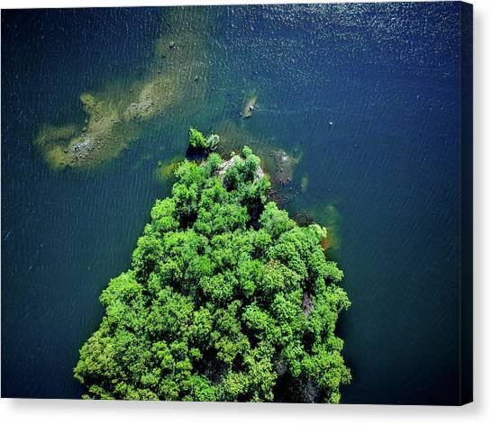 Swedish Canvas Print - Archipelago Island - Aerial Photography by Nicklas Gustafsson