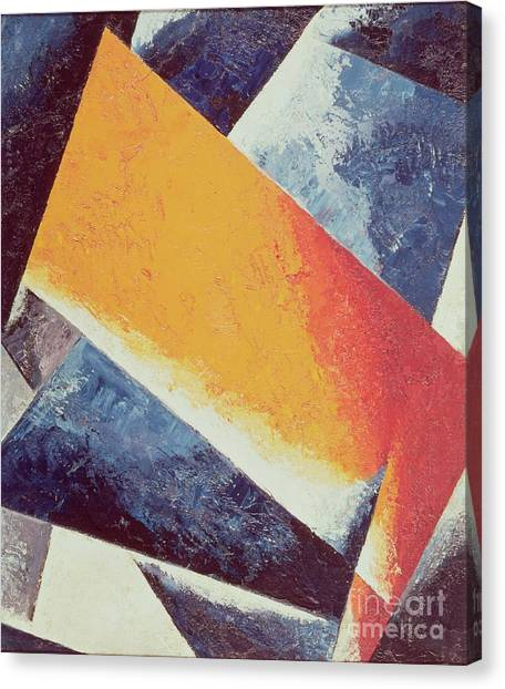 Futurism Canvas Print - Architectonic Composition by Lyubov Sergeevna Popova