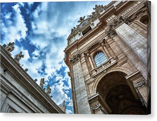 Architectural Majesty On Top Of The Sky Canvas Print