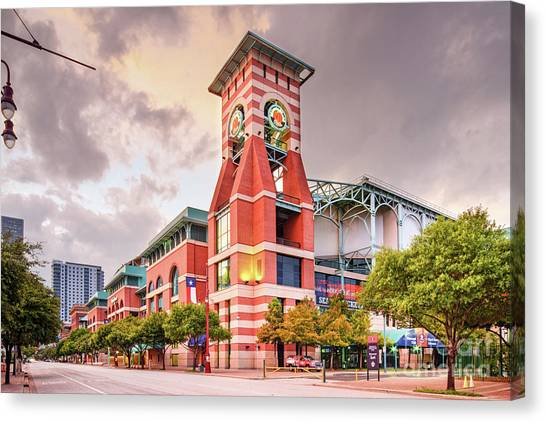 Architectural Photograph Of Minute Maid Park Home Of The Astros - Downtown Houston Texas Canvas Print