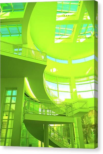 Green Splash Architecture Canvas Print