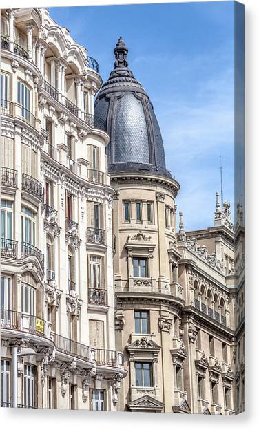 Madrid Canvas Print - Architecture Of Madrid by W Chris Fooshee